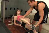 Petite Cutie Ate The Gym Gets Her Pussy Ate Out