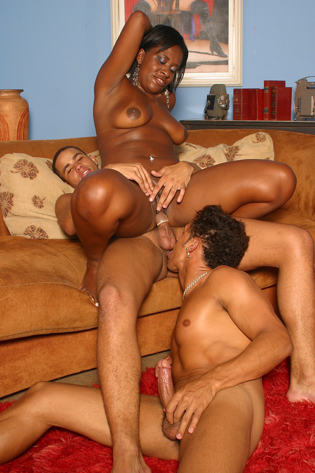 Mature black threesome
