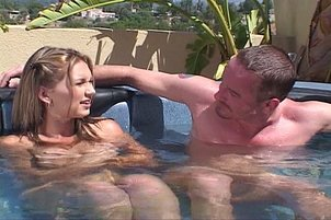 Vanilla Skye Spreads Her Legs In The Pool For A Cunt Licking