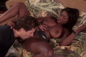 Big Jugs Black Girl Fucked By White Guy