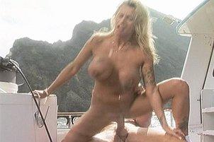 Blond Beach Babe Blows The Lifeguard