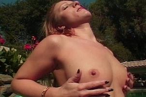 Busty Beautiful Blonde Masturbating