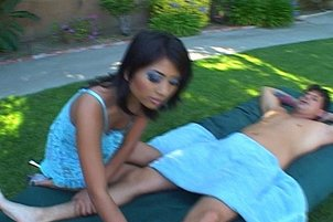 Ethnic Beauty Gets Banged Outdoors