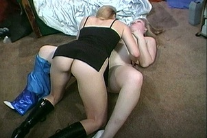 Two Girls Playing With Each Other On The Floor