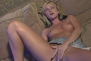 Blonde Licks And Fucks her Vibrator