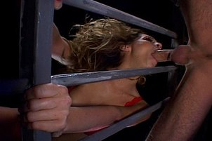 Blond Harlot Anal Reamed In Prison Cell