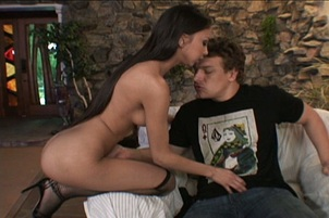 Skinny Young Hottie Alexis Love Rides The Cock Til It Bursts