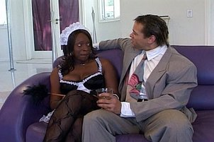 Sexy Black Maid Fucks Naughty Boss