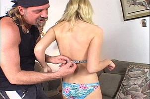 Bikini Sweety Gets Dirty With Biker Guy