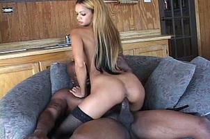 Petite Babe Takes On A Big Black Dick