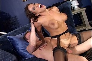 Naughty Brunette Sucks And Fucks For Cum