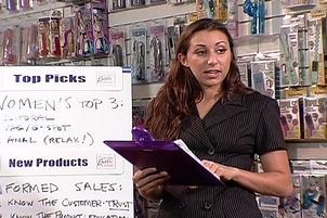 Lesbian Pornstars Invade Sextoy Store