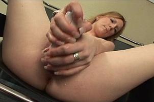 Nasty Blond Amateur Shoves a Thick Vibrator Up Her Twat