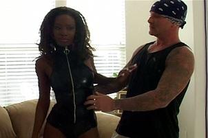 Ebony Sex Pot Gets An Anal Fucking