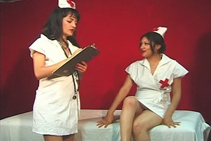 Nurse Eats Pussy And Rubs Her Pussy On Her Patient