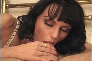 Anita Dark Goes Down On Dave's Big Shaft Before Riding