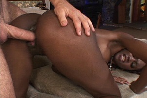 Hot Interracial Fucking On Couch
