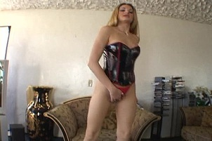 One Glass Toy In Her Pussy And Ass