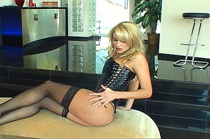 Blonde Strips And Rubs Her Pussy Sultry