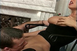 Johnny Mac Fills Riley Evans Hot Pussy With Tongue And Dick
