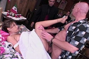 Young Latina Bride Fucked By Three Dudes