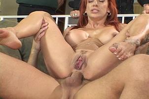 Redhead Milf in Hot Cuckold Fucking