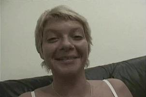 German Blonde MILF Dildos And Sucks Cock