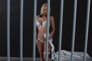 Blonde Masturbates In Her Prison Cell