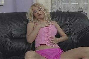 Slutty Young Blond Masturbates To Orgasm