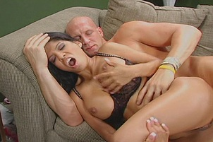 Busty Latina Sucks And Fucks A Salesman