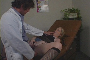 Moist And Busty Coed Examined By Doctor