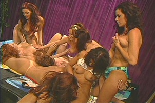 Elizabeth Lawrence Invites Friends Over For A Strap On Orgy