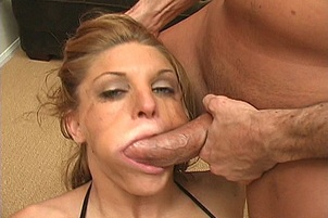 Dick Licking Chick Is Throat Fucked