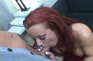 Redheaded Siren Sucking Cock Tickle twat