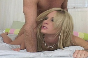 Blonde Getting Hit From The Back Doggy
