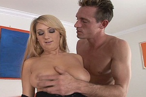 Busty Blonde Gets Cumshot To Tits