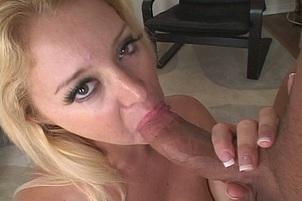 Beautiful Blonde Sucks Some Dick