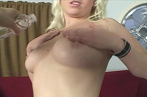 Chubby Blonde Takes A Huge Black Dick