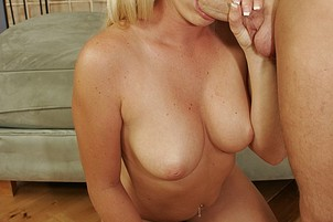 Blonde Female Takes Large Cock