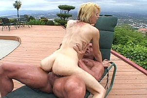 Slutty Blonde Gets Nailed Outdoors