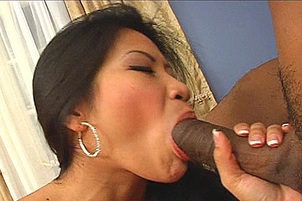 Sensual Asian Hottie Reamed By Black Guy