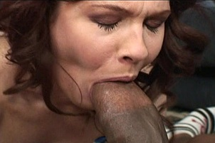 Brunette Milf in Interracial Action