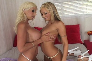 Blond Porn Whores Share Lucky Stud's Rod