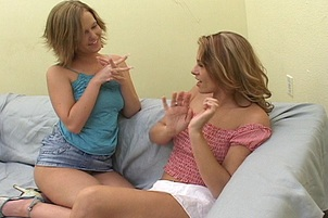 Sweet First Time Lesbo on Film