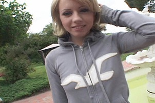 Lovely Young Blond Gets Spunk In Her Eye