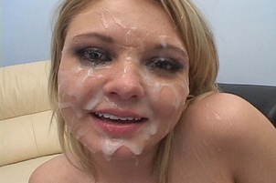 Cute Blond Drowning in Sticky Cum