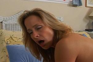 Horny Blond Grinds Her Ass On Fat Wang