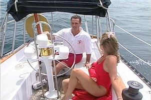 Hot Blond Chick And Guy Fuck On A Boat
