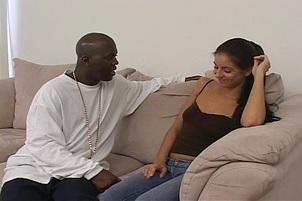 Sexy Veronica Stone Fucks Black Dick