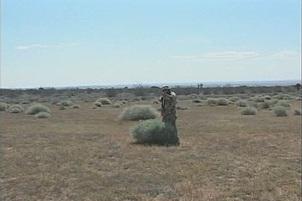 Nasty Blond Seduces Lone Soldier In Bush